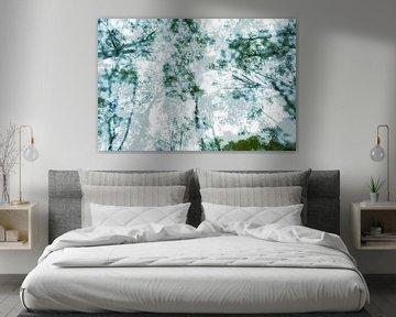 Green trees van Nanda Bussers