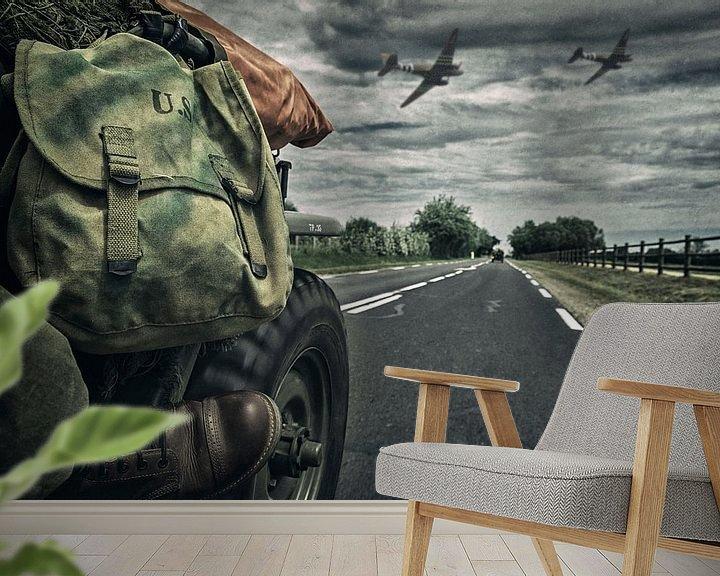 Sfeerimpressie behang: D-day Normandy van Rob van der Teen