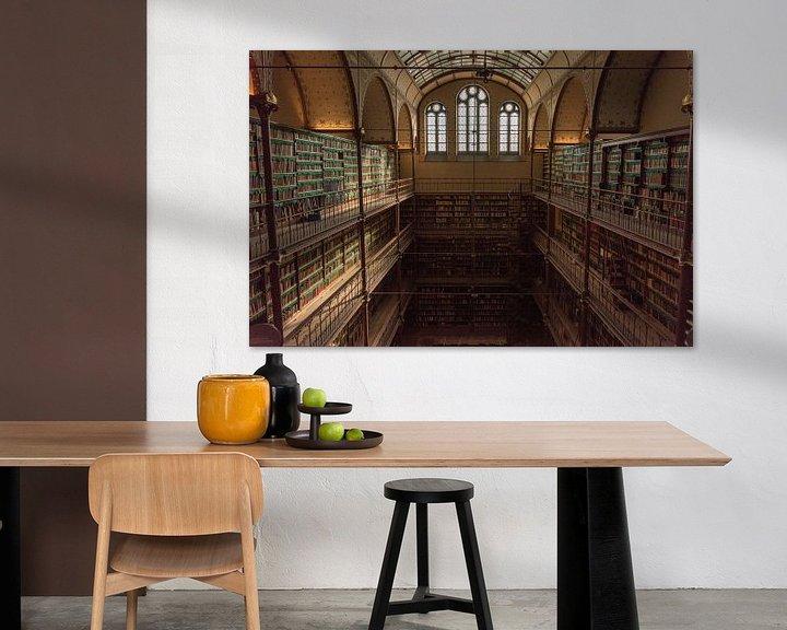 Beispiel: Rijksmuseum Amsterdam | Bibliothek Amsterdam | Kunstdruck von Mascha Boot