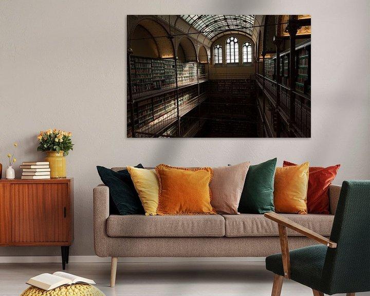 Beispiel: Rijksmuseum Amsterdam   Bibliothek Amsterdam   Kunstdruck von Mascha Boot
