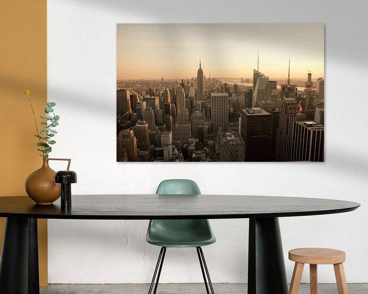 Beispiel: New York | Fotografie | Sonnenuntergang | Kunstdruck von Mascha Boot
