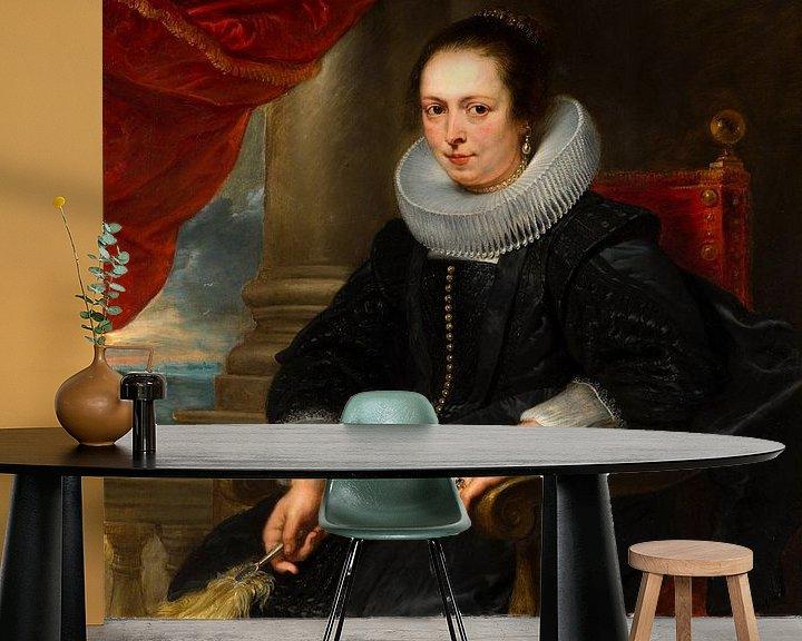 Beispiel fototapete: Portrait of a woman, possibly Clara Fourment, Peter Paul Rubens