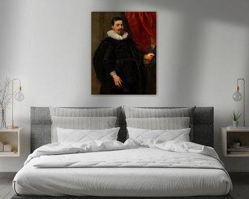 Portret van een man, mogelijk Peter van Hecke, Peter Paul Rubens