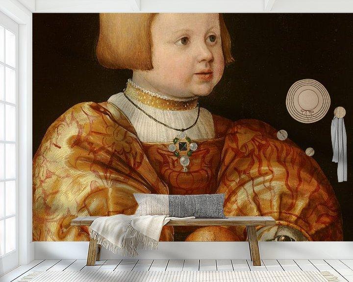 Beispiel fototapete: Portrait of Maximilian of Austria, Aged Three, Jacob Seisenegger