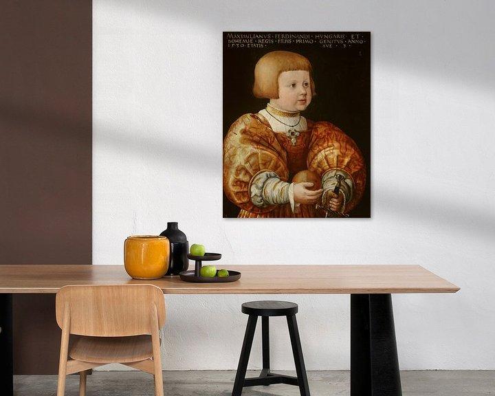 Beispiel: Portrait of Maximilian of Austria, Aged Three, Jacob Seisenegger