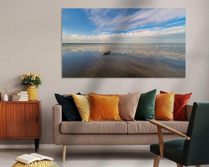 Sfeerimpressie: Wachten op hoog water op het wad van Texel van Texel360Fotografie Richard Heerschap