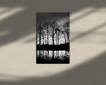Sonnenaufgang schwarz-weiß von Bianca ter Riet