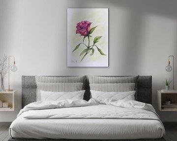 Rose rose. sur Ineke de Rijk