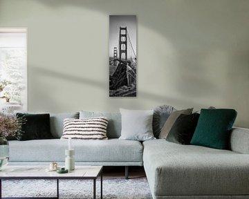 SAN FRANCISCO Golden Gate Bridge | Panorama von Melanie Viola
