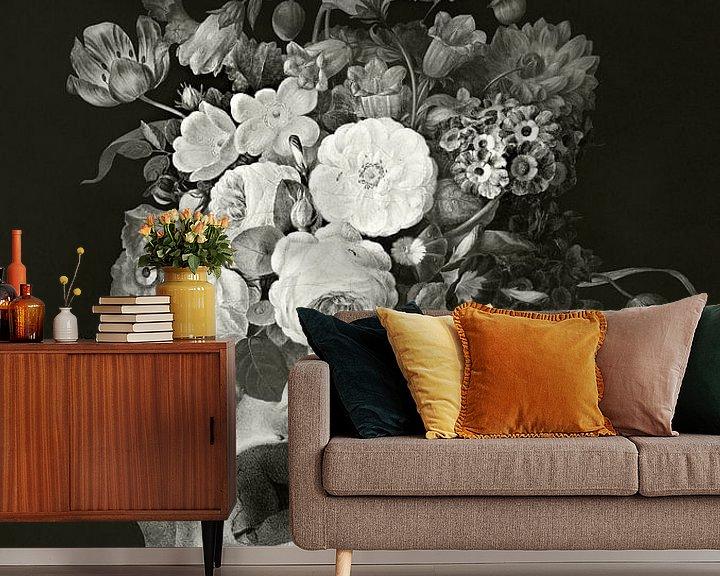 Beispiel fototapete: Skullflowers von Marja van den Hurk