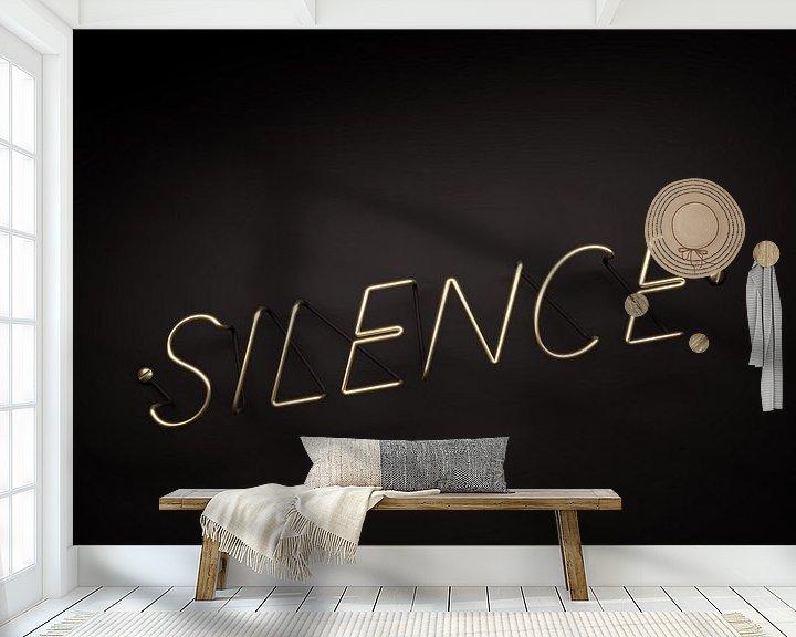 Sfeerimpressie behang: Silence is Golden van Jörg Hausmann