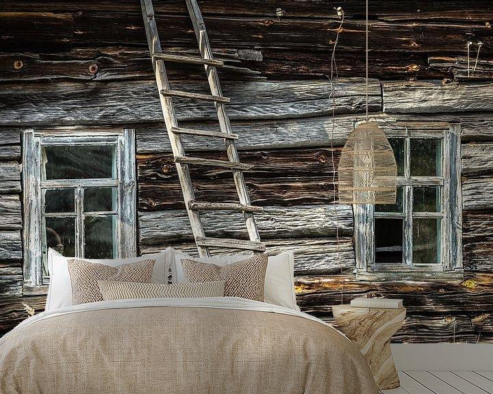 Beispiel fototapete: Verlassenes Holzhaus in Weißrussland von Hilda Weges