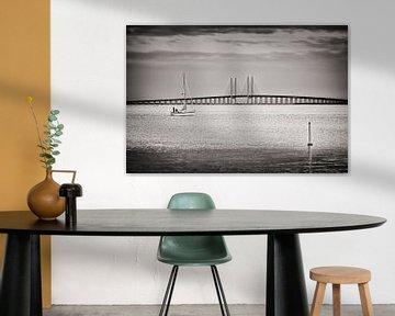 Schwarzweiss-Fotografie: Öresundbrücke von Alexander Voss
