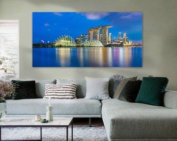 Singapur-Skyline am Abend von Tux Photography