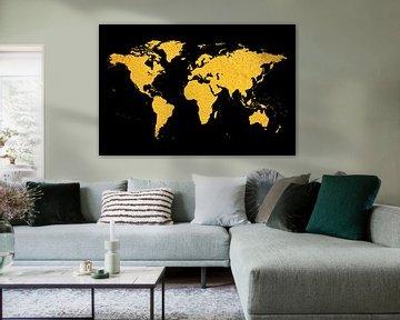 Gouden wereldkaart van Felix Brönnimann