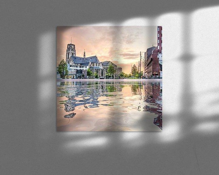 Sfeerimpressie: Waterspiegeling Binnenrotte van Frans Blok