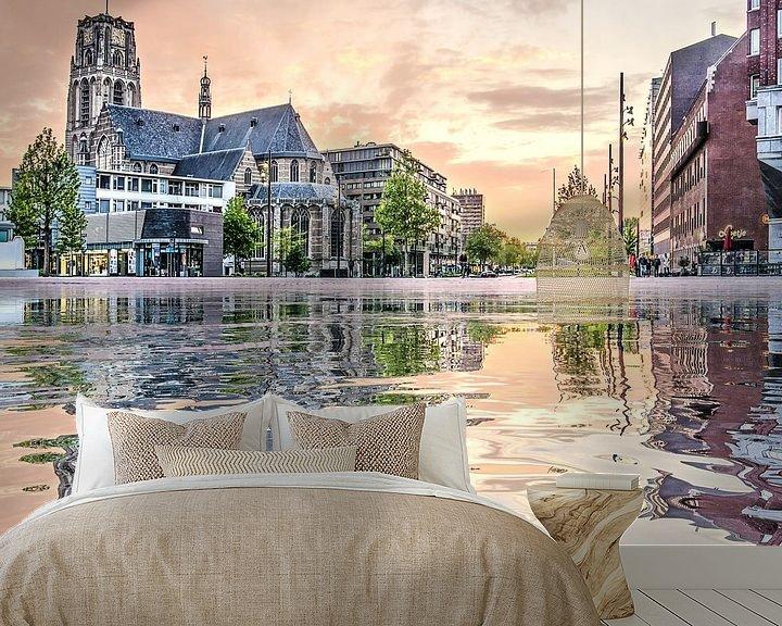 Sfeerimpressie behang: Waterspiegeling Binnenrotte van Frans Blok