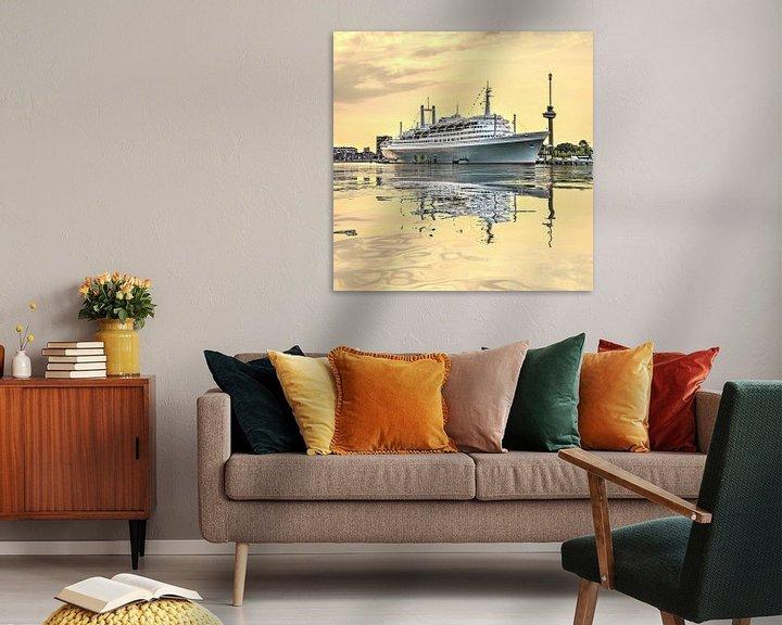 Sfeerimpressie: Waterspiegeling Maashaven van Frans Blok