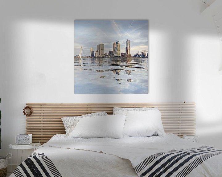 Sfeerimpressie: Waterspiegeling Wilhelminapier van Frans Blok