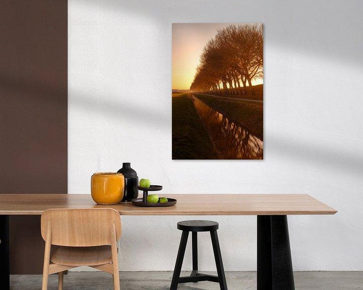 Impression: Zonsondergang kanaal door Walcheren dijk sur Andy Troy