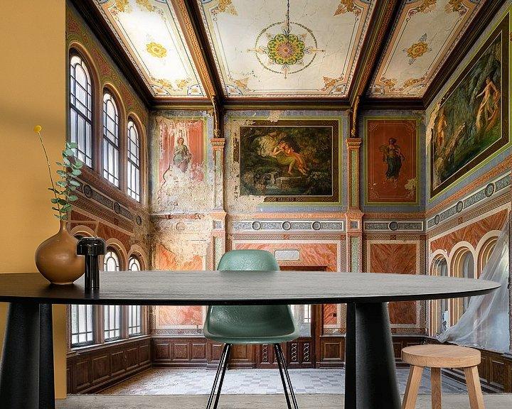 Sfeerimpressie behang: Verlaten Casino in Verval. van Roman Robroek