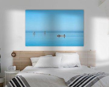 Kano in het blauwe water van Jeroen Kleiberg
