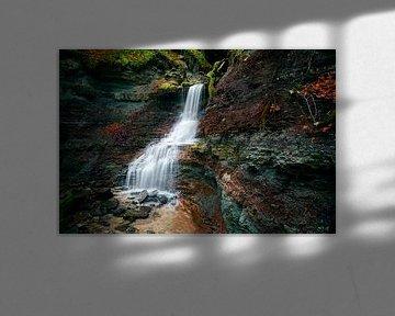 Wasserfall in der Wieslaufschlucht von Max Schiefele