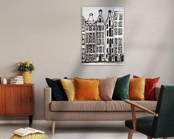 Amsterdam Häuser. von Ineke de Rijk