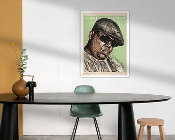 Biggie, 'it was all a dream' malerei von Jos Hoppenbrouwers