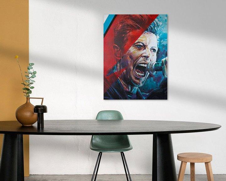 Beispiel: David Bowie malerei von Jos Hoppenbrouwers