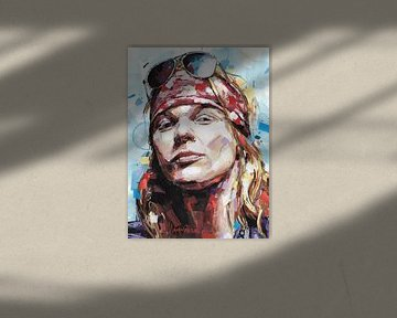 Axl Rose (Guns N' Roses) malerei von Jos Hoppenbrouwers