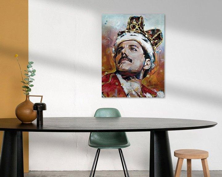 Beispiel: Freddie Mercury malerei von Jos Hoppenbrouwers