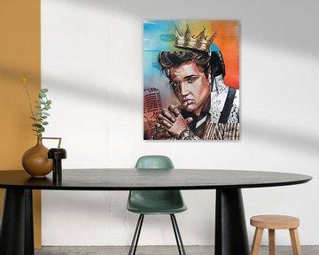 Elvis Presley 'the King' schilderij