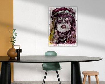 Lady Gaga pop art von Jos Hoppenbrouwers