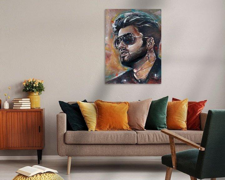 Sfeerimpressie: George Michael schilderij van Jos Hoppenbrouwers