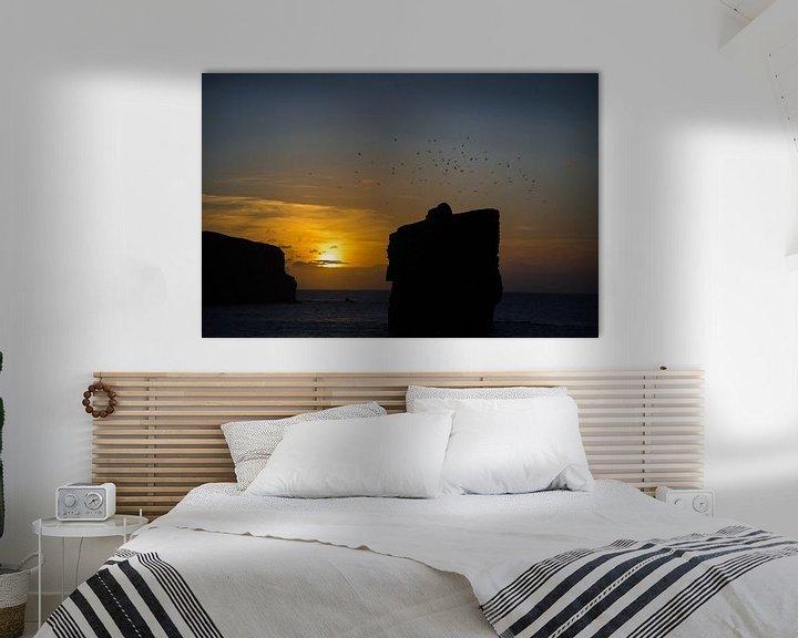 Sfeerimpressie: Azoren sunset aan de zee met meeuwen van Aaldrik Bakker