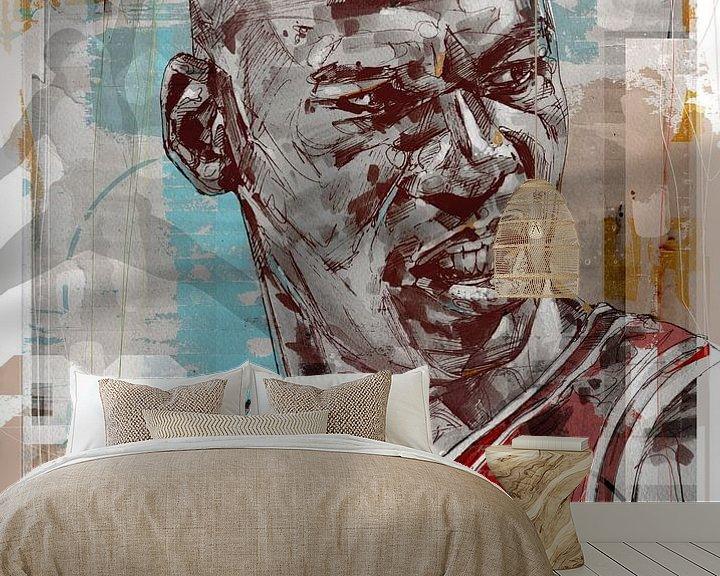 Beispiel fototapete: Michael Jordan pop art von Jos Hoppenbrouwers