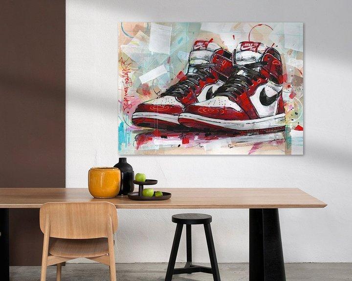 Beispiel: Nike Air Jordan Retro 1 Chicago Malerei von Jos Hoppenbrouwers
