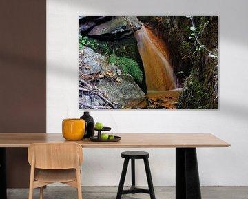 Iron Waterfall II van Cornelis (Cees) Cornelissen