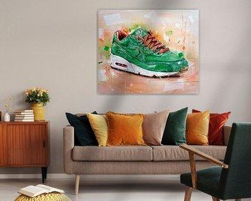 Nike Air Max 90 x Patta homegrown peinture sur Jos Hoppenbrouwers