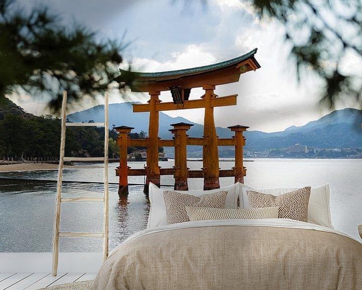 Sfeerimpressie behang: Itsukushima-schrijn van Schram Fotografie