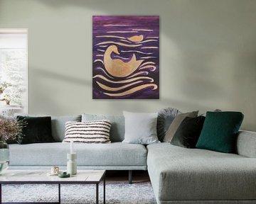 Enten in den Wellen von Verbeeldt