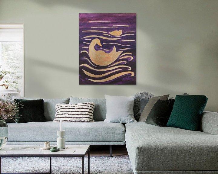 Sfeerimpressie: eenden in de golven van Verbeeldt