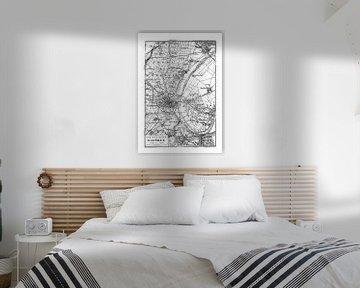 Historische kaart van Parijs van Andrea Haase