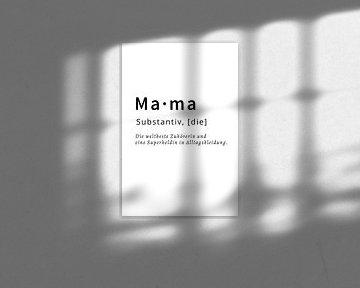 Mama Substantiv Muttertagsgeschenk von Felix Brönnimann