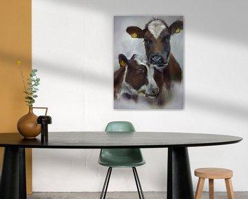 Kühe gemütlich malen II von Alies werk
