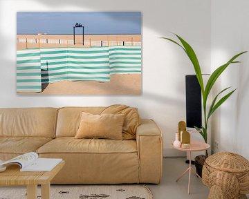 Strand in de badplaats Oostende van Werner Dieterich
