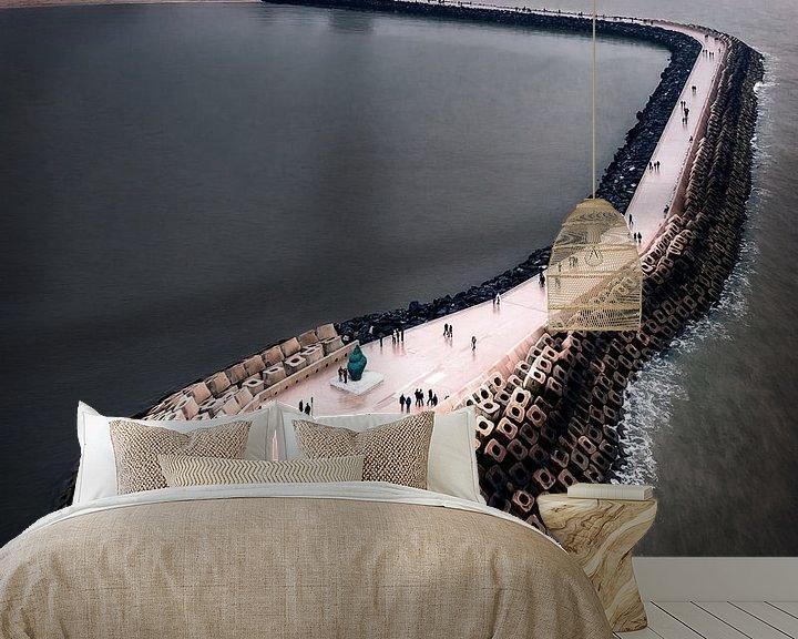 Sfeerimpressie behang: De pier van Oostende van Niels Tichelaar