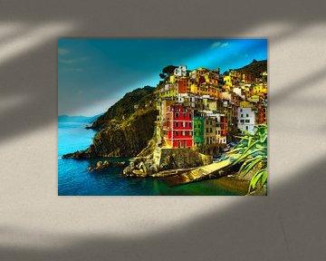 Aquarel Pencil - Cities of Colors - Riomaggiore van Doesburg Design