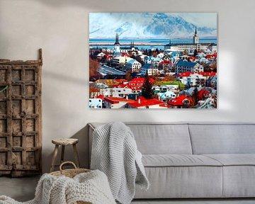 Aquarel Pencil - Cities of Colors - Reykjavik von Doesburg Design